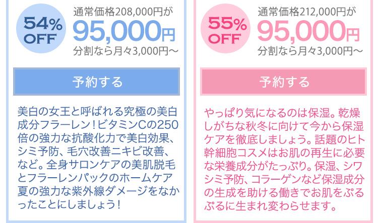全身脱毛福袋9.5万円