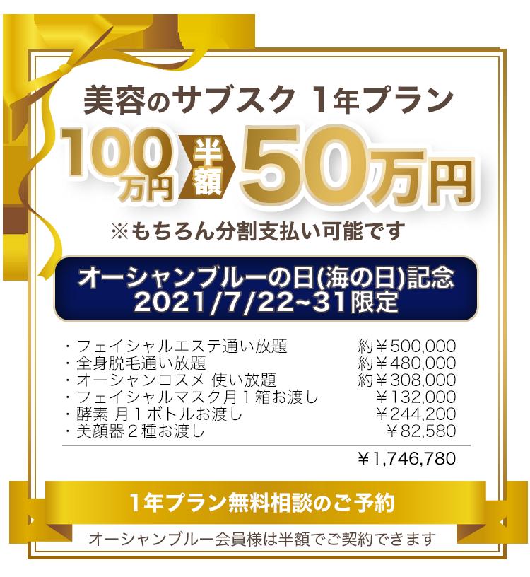 美容サブスク放題 1年100万円