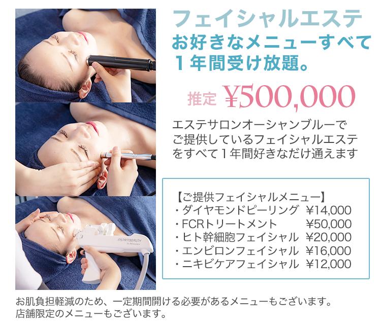 フェイシャルエステ50万円分